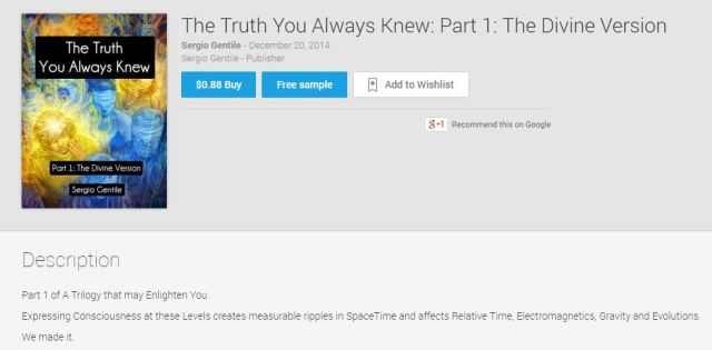 The Truth You Always Knew - Part 1 now only 88 cents on Google Play